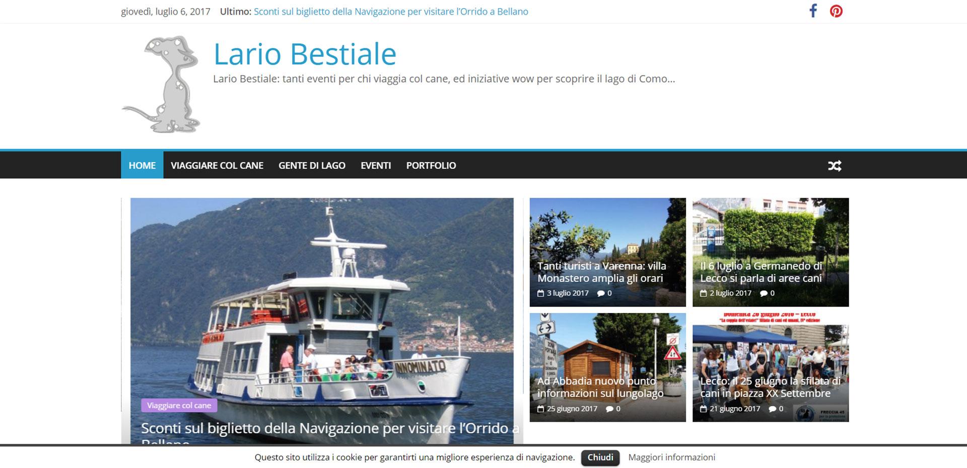 Sito web responsive per Lario Bestiale Lecco